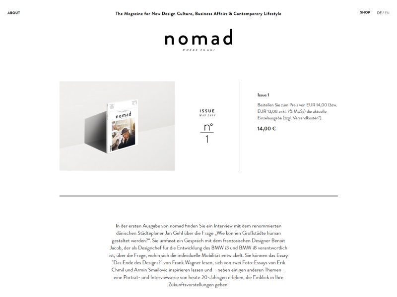 Link zu The Nomad-Magazin